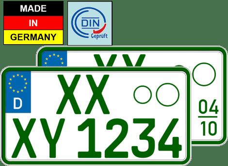 Traktor Kennzeichen Grün