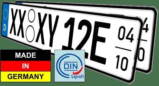 Elektroauto e saisonkennzeichen nummernschilder günstig kaufen