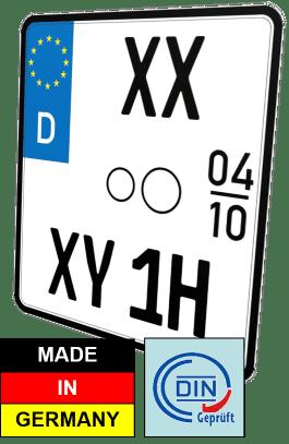 nummernschild Motorrad Oldtimer H und Saisonkennzeichen